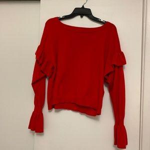 Levi's bloue sweater ruffle bell sleeve